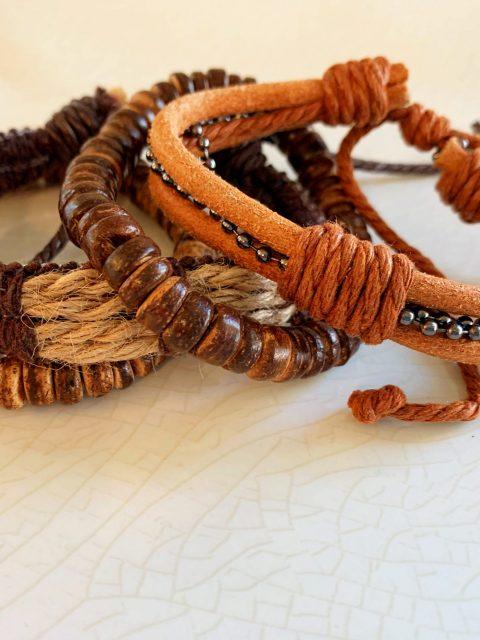 Hemp/Beaded Bracelet Set