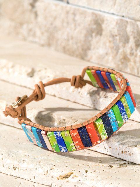 Multicolor Natural Stone Bracelet