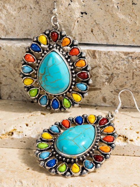 Multicolor Blossom Teardrop Earrings