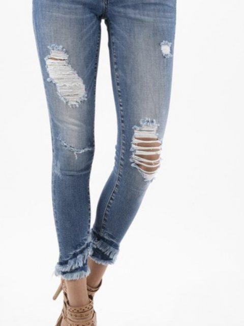 Frayed Bottom KanCan Jeans