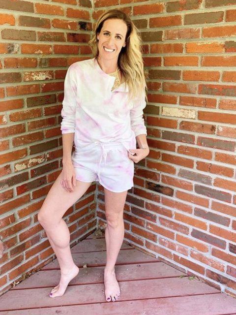 Pink and White Short Loungewear Set