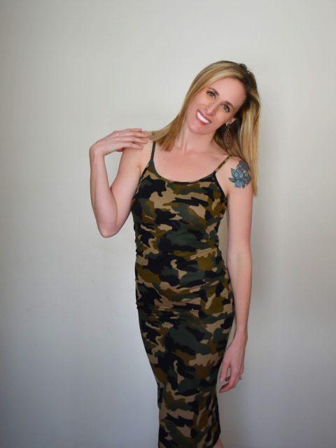 The Cora Camo Dress