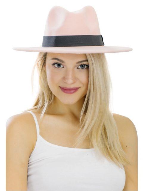 The Wyatt Panama Hat in Misty Rose