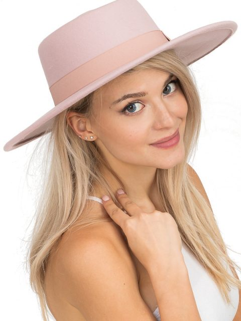 The Wyatt Bolero Hat in Powder Pink
